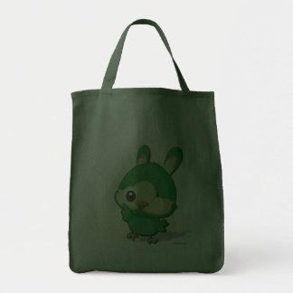Cute Green Bird Funny Cartoon Character Kawaii Bag