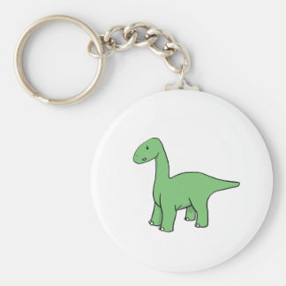 Cute Green Brontosaurus Keychain