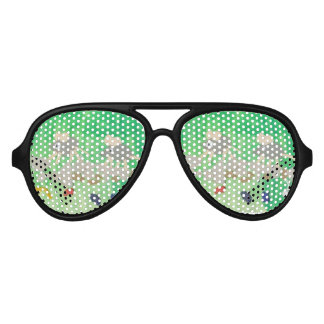 cute green cartoons kids Party Shades Sunglasses