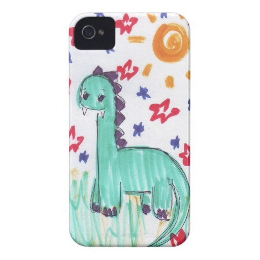 Cute Green Dinosaur Sketch Blackberry Bold Case