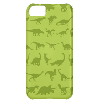 Cute Green Dinosaurs Patterns for Boys Cover For iPhone 5C