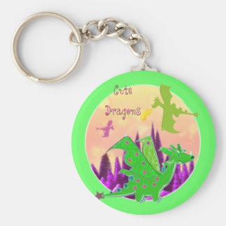 Cute Green Dragon Keychain