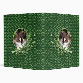 Cute Green Eyed Calico Kitten 1 Inch Binder