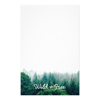 Cute Green Forest Wild and Free Stationery