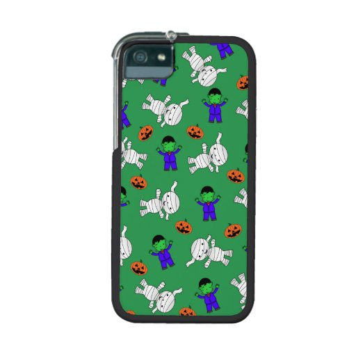 Cute green Frankenstein mummy pumpkins iPhone 5/5S Cases