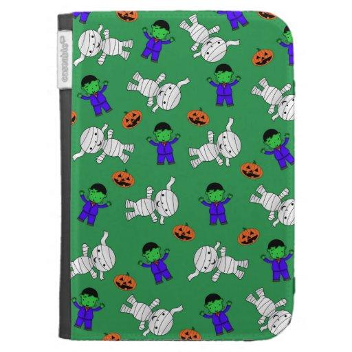 Cute green Frankenstein mummy pumpkins Kindle 3G Case