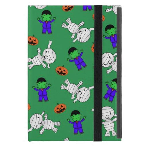 Cute green Frankenstein mummy pumpkins iPad Mini Cases