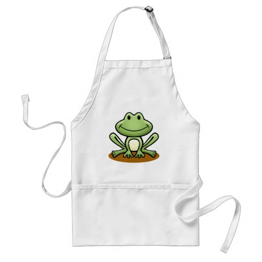 Cute Green Frog Aprons