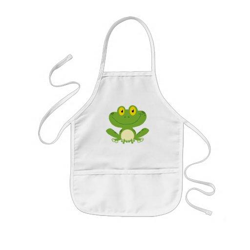 Cute Green Frog Aprons