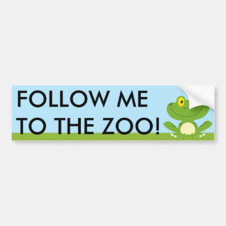 Cute Green Frog Bumper Sticker