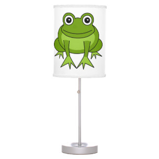 Cute Green Frog Cartoon Table Lamp