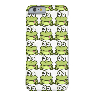 Cute green frog is sticking out his tongue barely there iPhone 6 case
