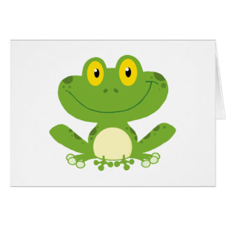 Cute Green Frog Note Card