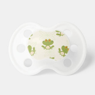 Cute Green Frog Pattern Baby Pacifiers