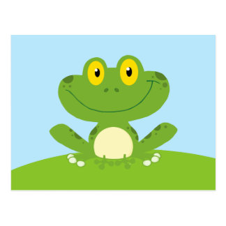 Cute Green Frog Postcard