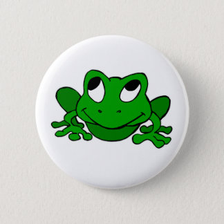Cute Green Froggie 2 Inch Round Button