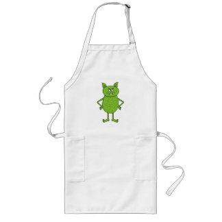 Cute green goblin cartoon aprons