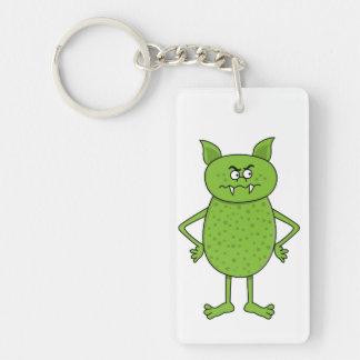 Cute green goblin cartoon Double-Sided rectangular acrylic keychain