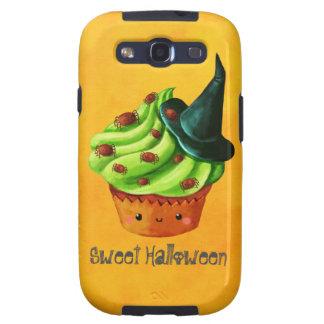 Cute Green Halloween Cupcake Samsung Galaxy SIII Cases