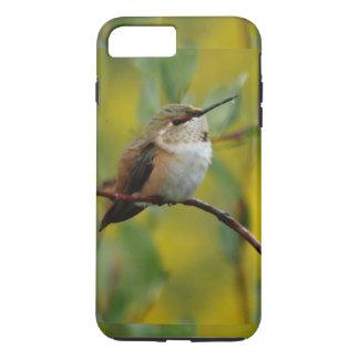 cute green Hummingbird yellow background iPhone 7 Plus Case