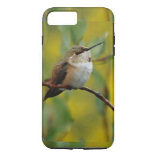 cute green Hummingbird yellow background iPhone 8 Plus/7 Plus Case