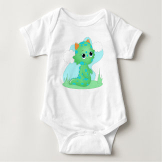 Cute Green Monster Infant Creeper