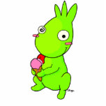 Cute Green monster Photo Cut Outs