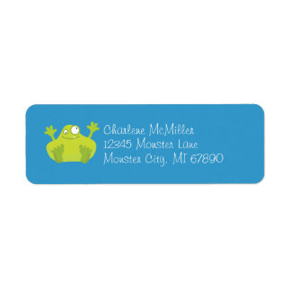 Cute Green Monster Return Address Label