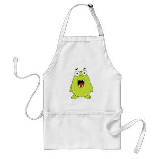 Cute green monster standard apron