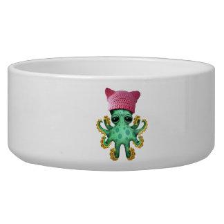 Cute Green Octopus Wearing Pussy Hat