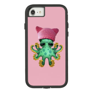 Cute Green Octopus Wearing Pussy Hat Case-Mate Tough Extreme iPhone 8/7 Case
