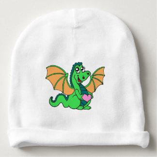 cute-green-orange-dragon baby beanie