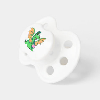 cute-green-orange-dragon pacifier