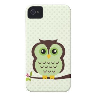 Cute Green Owl iPhone 4 Cover