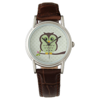 Cute Green Owl Watch