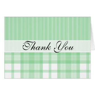 Cute Green Plaid Note Card