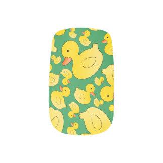 Cute green rubber ducks fingernail decals
