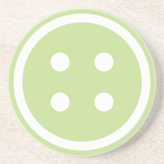Cute Green Sewing Button Coaster