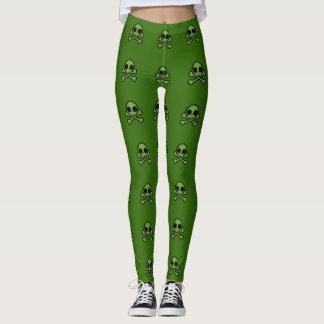 Cute Green Skull Leggings