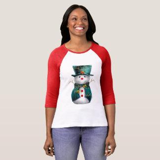 Cute Green Snowman T-Shirt