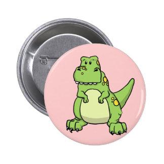 Cute Green T-Rex 2 Inch Round Button