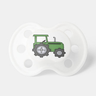 Cute Green Tractor Pacifier