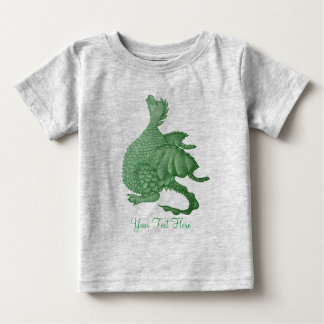 cute greendragon mythical fantasy creature art baby T-Shirt