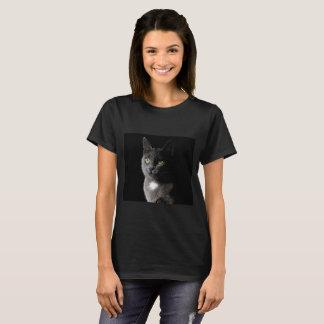 Cute grey cat close up T-Shirt