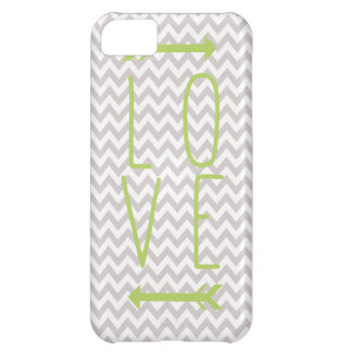 Cute Grey Chevron Lime Love iPhone Case