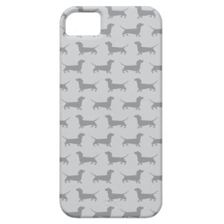 Cute Grey dachshund Dog Pattern iPhone 5 Case