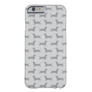 Cute Grey dachshund Dog Pattern iPhone 6 case Barely There iPhone 6 Case