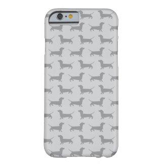 Cute Grey dachshund Dog Pattern iPhone 6 case