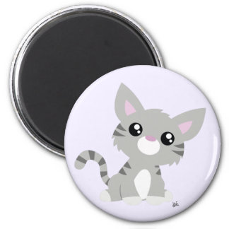 Cute Grey Kitty Magnet