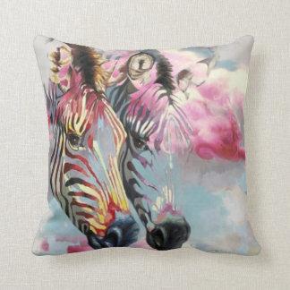 Cute Grey Pink Zebra modern animal cushion